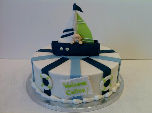 pin nautical baby shower cake picture for pinterest and other